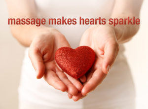 Massage makes hearts sparkle.